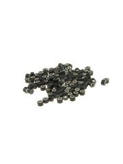 Goudhaartje Microringen met siliconen 100 stuks zwart
