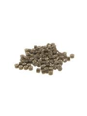 Goudhaartje Microringen met siliconen 100 stuks bruin