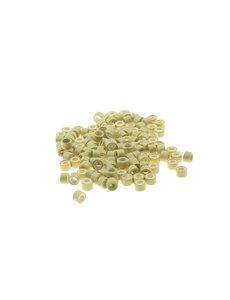 Goudhaartje Microringen met siliconen 100 stuks blond