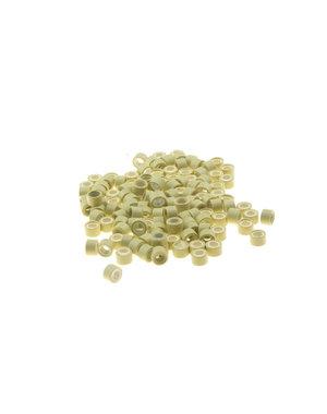 Microringen met siliconen 100 stuks blond