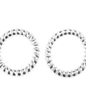 Kabel haarelastiek extra stevig zilverkleurig