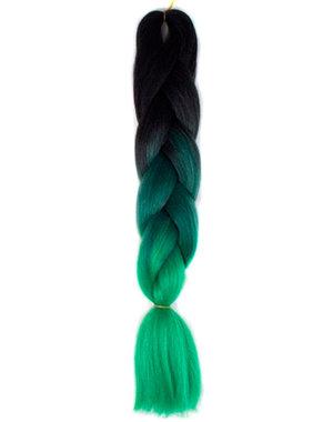Kanekalon vlechthaar groen zwart