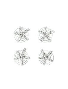 Goudhaartje Curlies zilverkleurig zeester 4 stuks