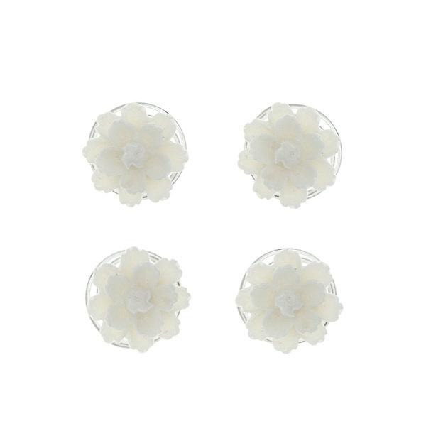 Curlies chrysant crèmekleurig 4 stuks