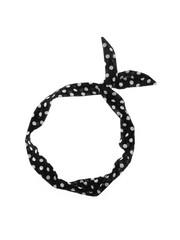 Goudhaartje Haarband sjaal retro polkadot zwart wit