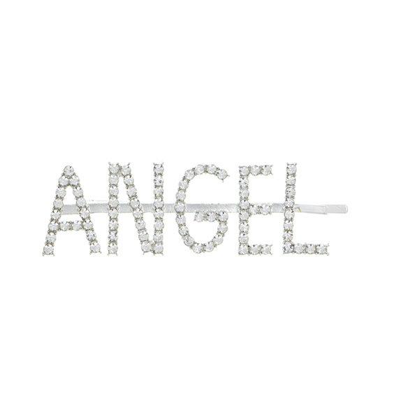 Haarschuifje zilverkleurig angel