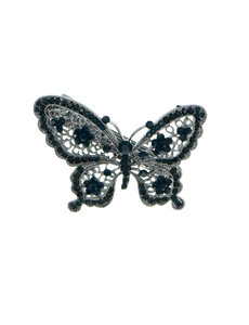 Goudhaartje Patent speld vlinder strass steentjes
