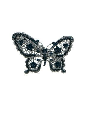 Patent speld vlinder strass steentjes