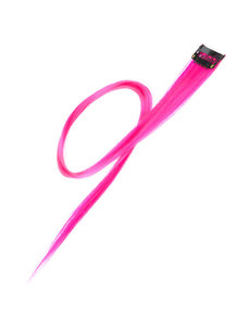 Goudhaartje Haarlok met een clip large in de kleur roze