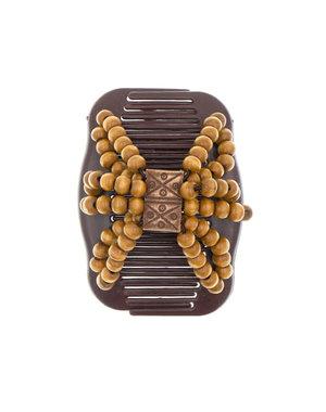 Ez comb houten kralen bruin