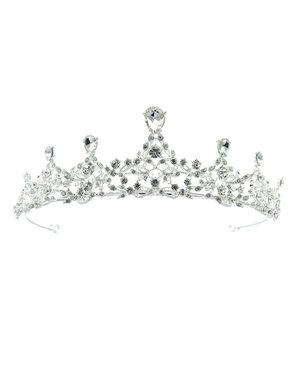 Goudhaartje Tiara zilverkleurig kroonjuweel