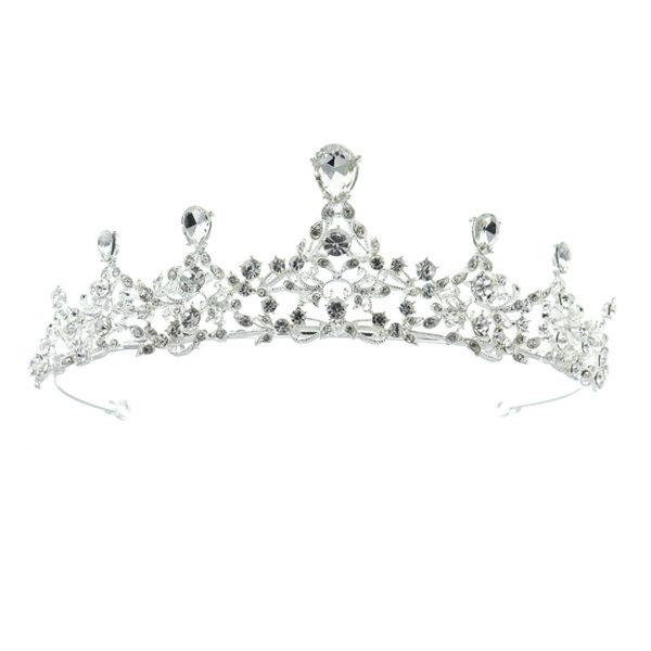 Tiara zilverkleurig kroonjuweel