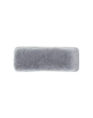 Haarclip rechthoekig soft grijs