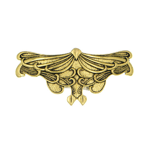 Goudhaartje Patent speld goudkleurig art deco