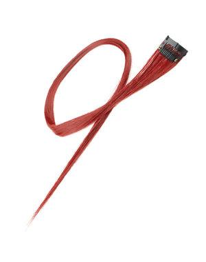 Goudhaartje Haarlok met een clip large in de kleur rood