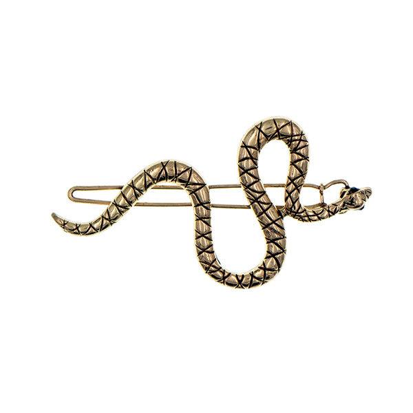 Haarclip goudkleurig slang