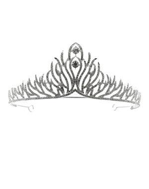 Tiara zilverkleurig verfijnde twijgen