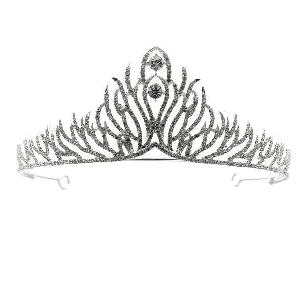 Goudhaartje Tiara zilverkleurig verfijnde twijgen