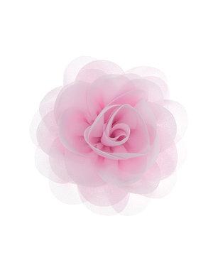 Goudhaartje Haarbloem roos roze op alligator knipje