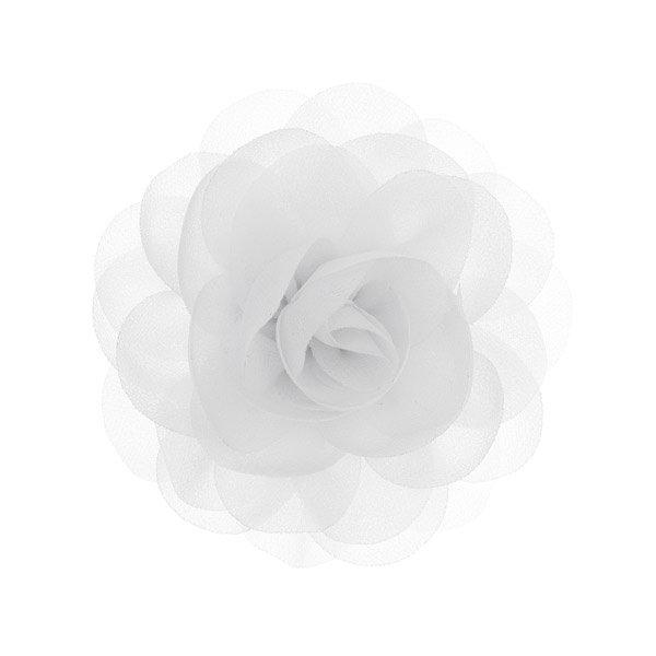 Goudhaartje Haarbloem roos wit op alligator knipje