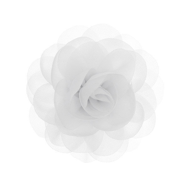 Haarbloem roos wit op alligator knipje