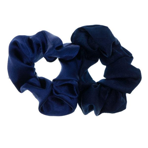 Goudhaartje Scrunchie blauwtinten 2 stuks