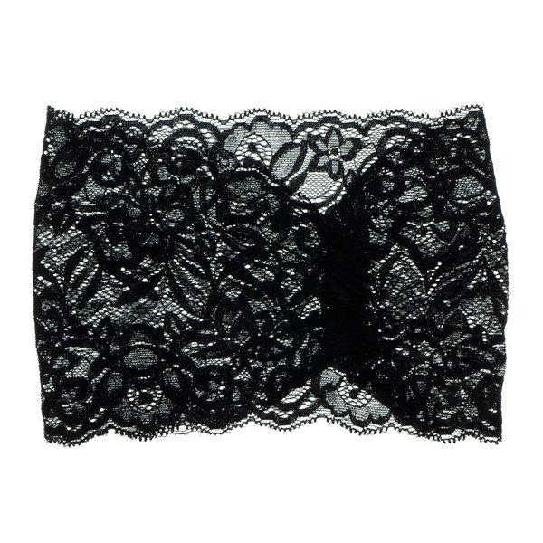 Goudhaartje Haarband elastisch kant zwart