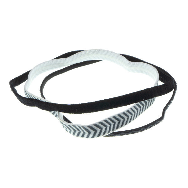 Goudhaartje Haarband zwart wit 3 stuks