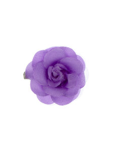 Goudhaartje Haarbloem roosje paars S op alligator knipje