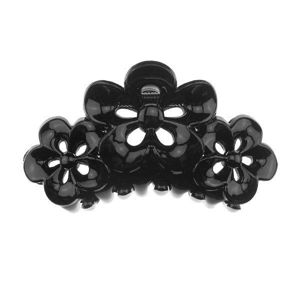 Goudhaartje Haarklem drie bloemen zwart