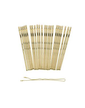 Goudhaartje Haarschuifjes set van 24 stuks kleur goudkleurig