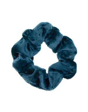 Goudhaartje Scrunchie velvet blauw