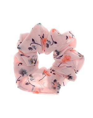 Goudhaartje Scrunchie lichtroze bloemen