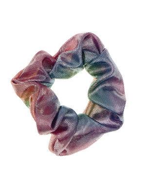 Goudhaartje Scrunchie metalic stip multicolor