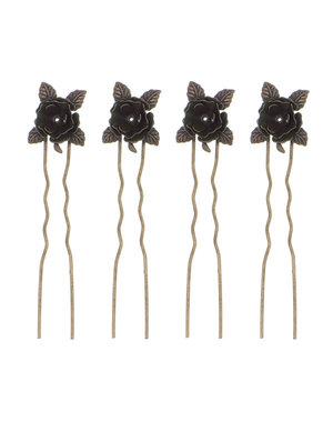 Goudhaartje Haarpinnen bronskleurig roosje 4 stuks