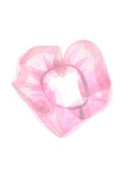 Goudhaartje Scrunchie roze parelmoer