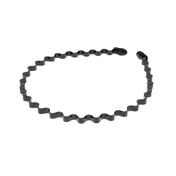Goudhaartje Diadeem vorm kronkel van metaal kleur zwart