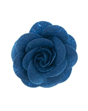 Urban Hippies Haarbloem vilt Urban Hippies donkerblauw