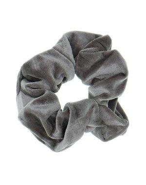 Goudhaartje Scrunchie velvet grijs