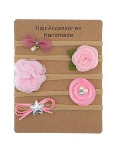 Goudhaartje Gift set haarbandjes roze