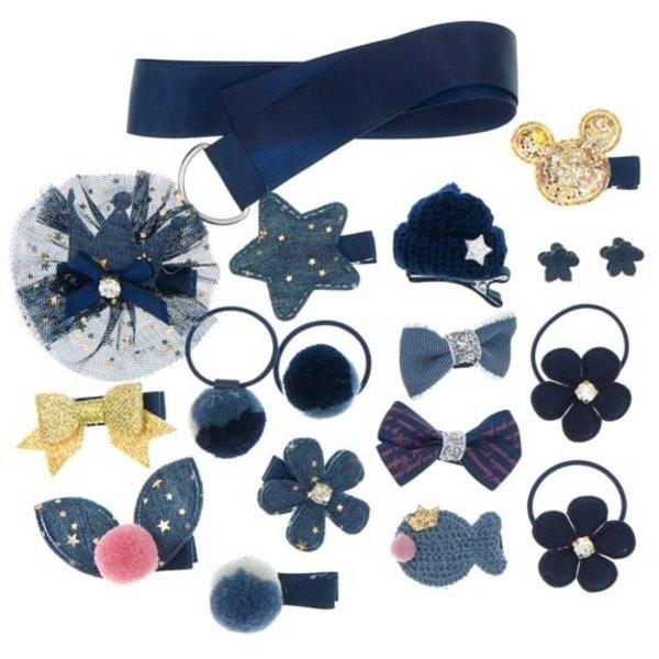 Goudhaartje Gift set tasje met bewaarlint blauw