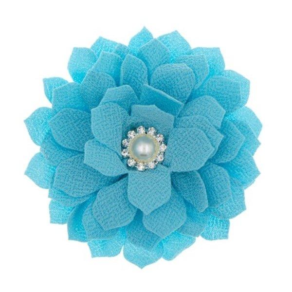 Goudhaartje Haarbloem parel mintgroen/blauw