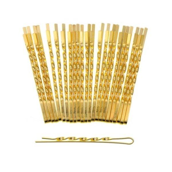 Goudhaartje Haarschuifjes twist 24 stuks goudkleurig