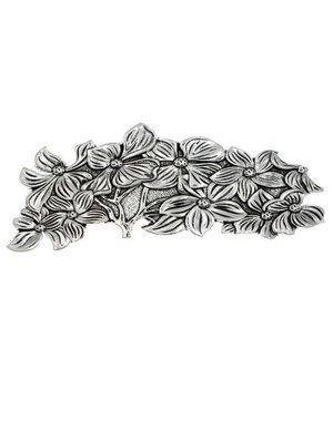 Goudhaartje Patent speld zilverkleurig bloemenboom