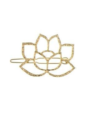 Goudhaartje Haarclip goudkleurig lotus