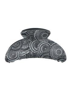 Goudhaartje Haarklem zwart wit motief cirkels