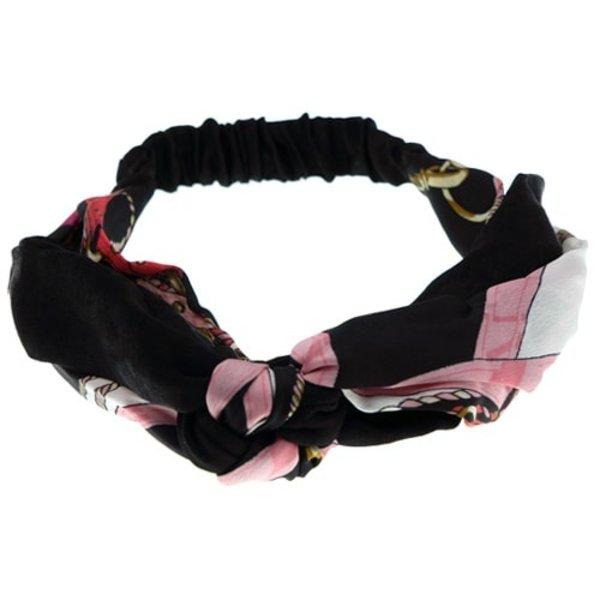 Goudhaartje Haarband zwart/roze fashion