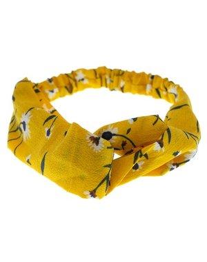 Goudhaartje Haarband geel bloemen