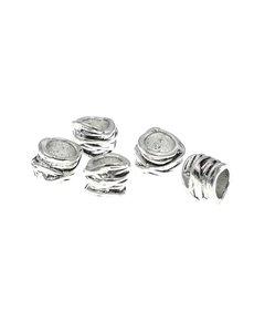 Goudhaartje Dreadlock bead 5 stuks ropes zilverkleurig