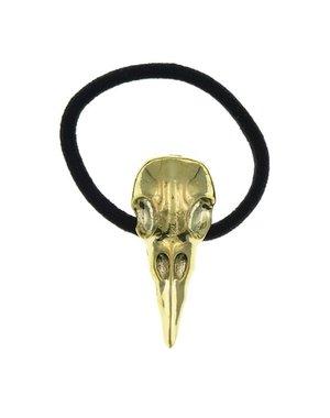Goudhaartje Haarelastiek skull goudkleurig